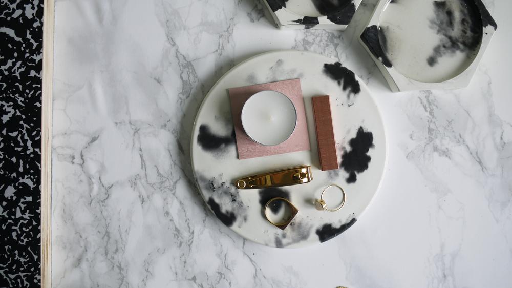 Coaster and Dalmatian Plate