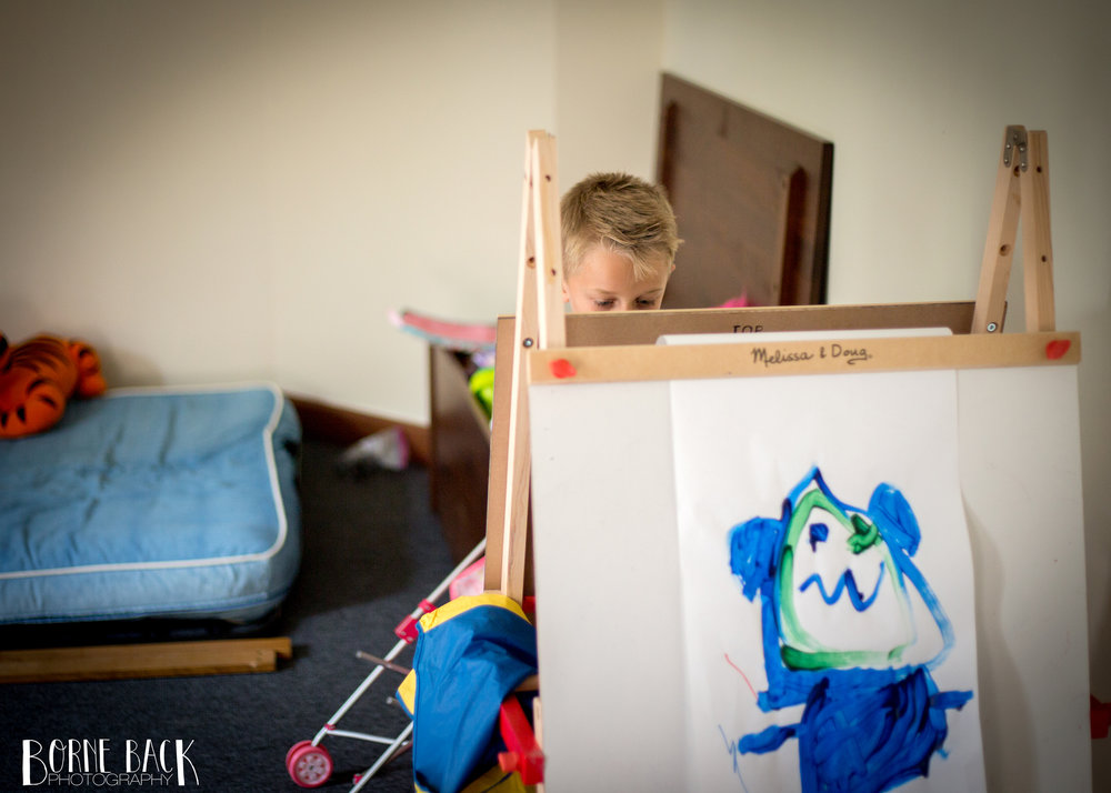 Painting is a great activity for toddlers and pre-schoolers alike!
