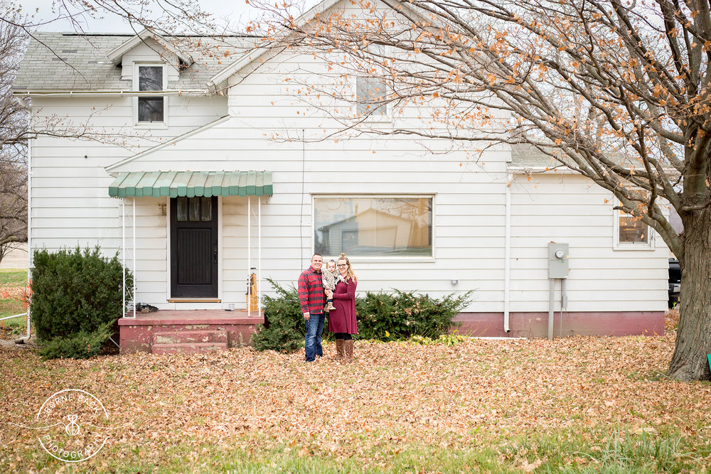 This beautiful family bought this farm house in order to totally renovate it and turn it into their forever home. This photo isn't just beautiful, it tells the story of their family's journey, too!