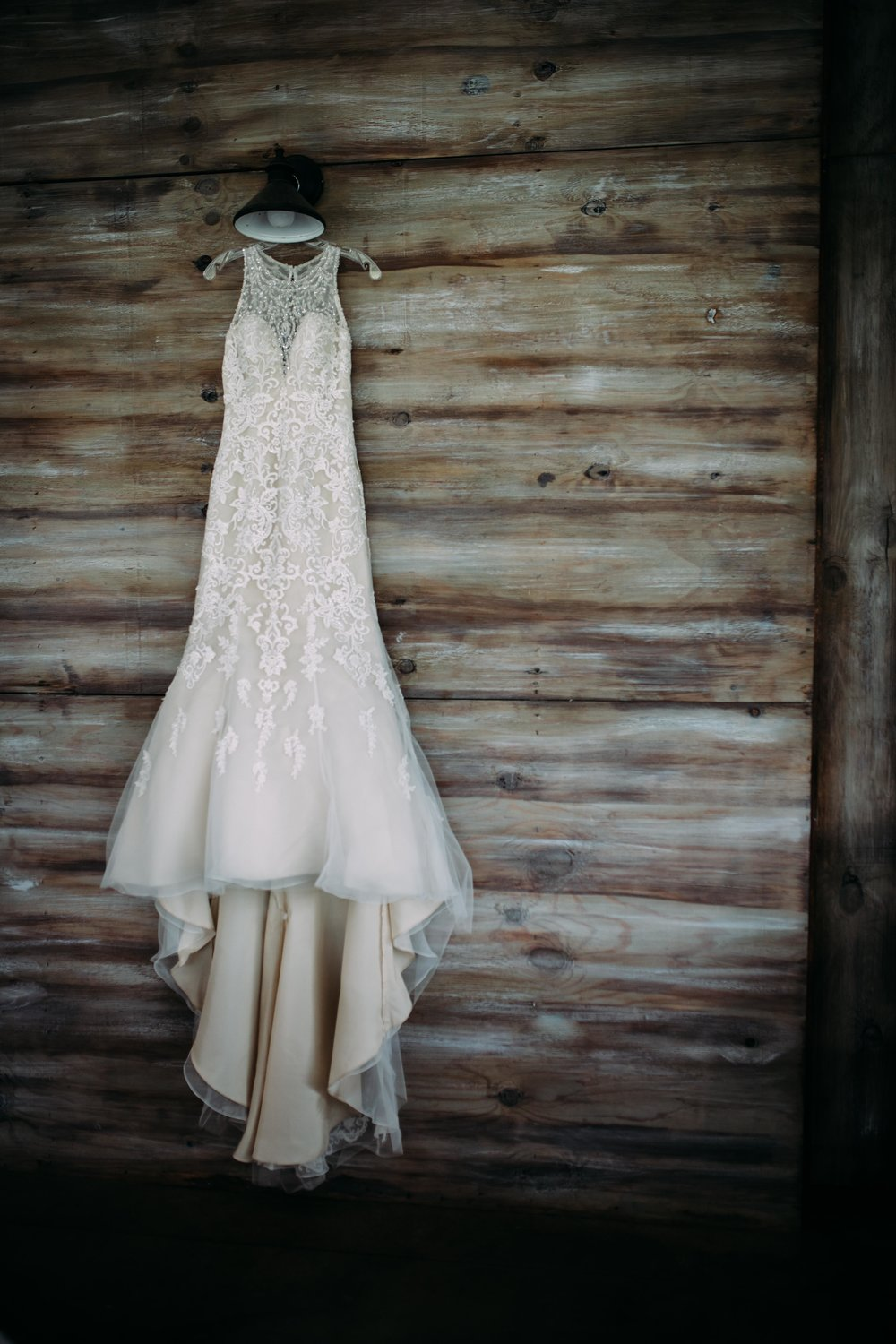classic lace wedding dress photo