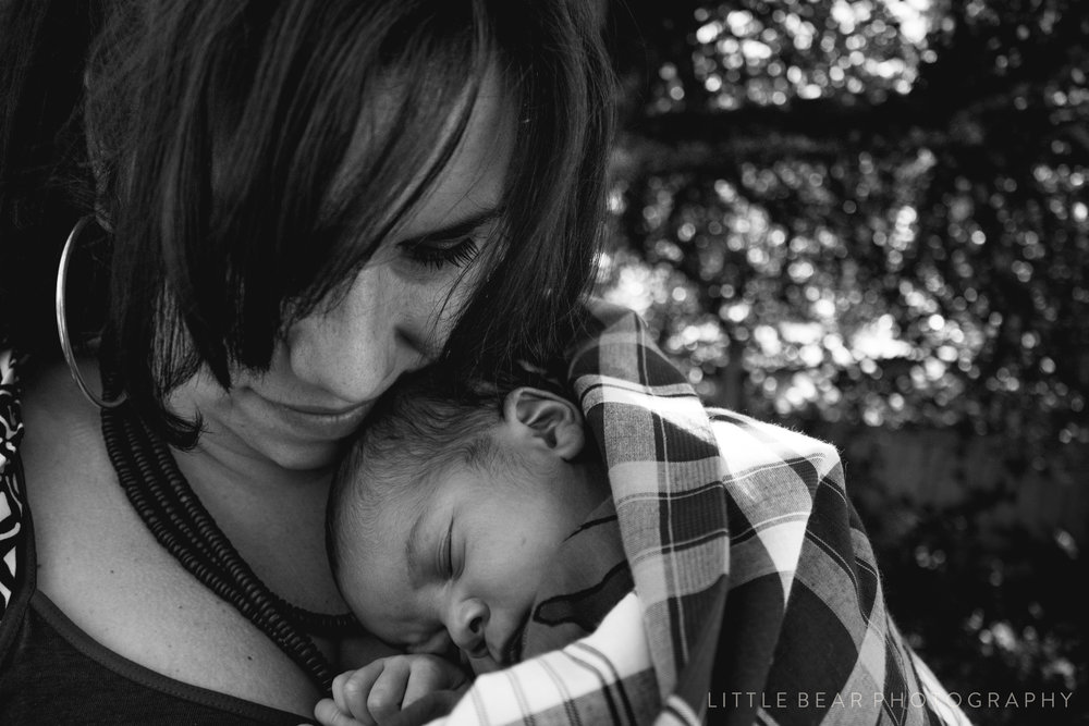 mom and baby shoot