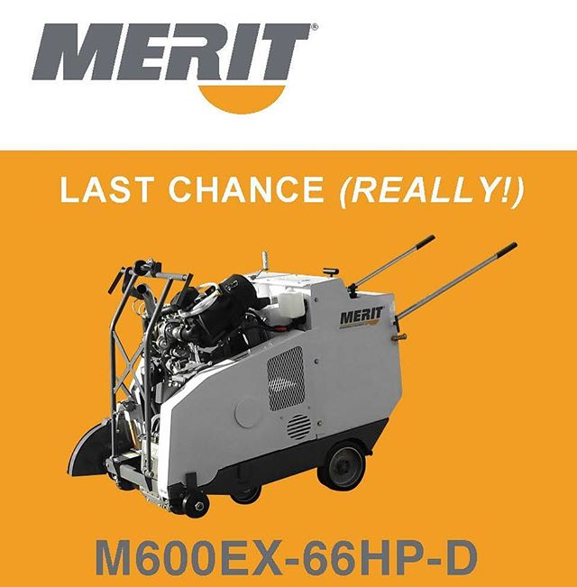 GOING, GOING, (nearly) GONE! LAST AND FINAL CALL FOR 66HP DIESELS  Interim Tier 4 engines are extremely limited. If you are planning on purchasing a fully EPA compliant 66 HP diesel-powered floor saw or power unit this year, we need your order by/before October 12. Only 7 engines are available in the US!!!