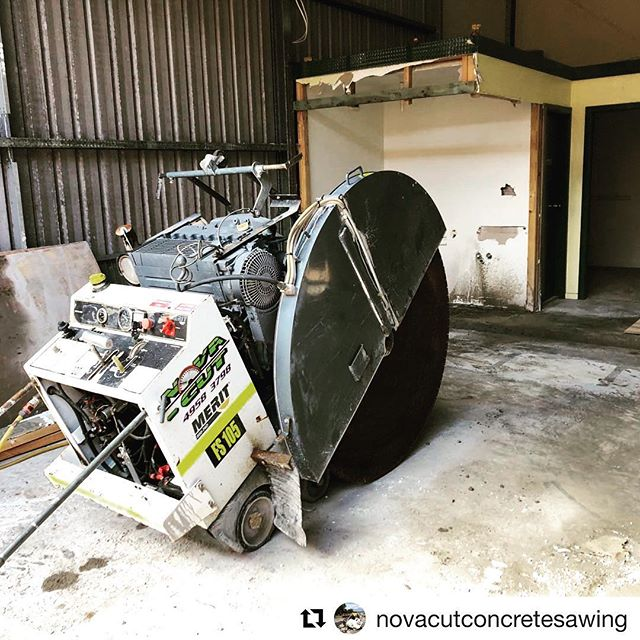 Thanks for the shout out @novacutconcretesawing. We love to see our saws on the job #meritsaw #meritproud #icsdiamondtools
