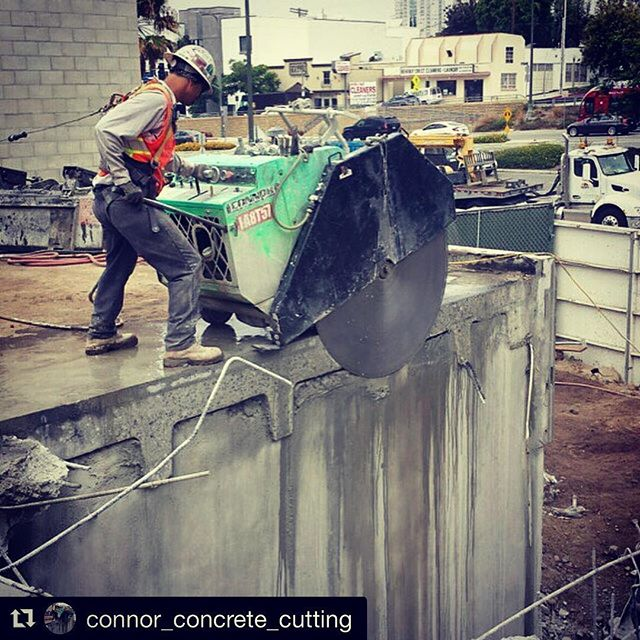 Today's edition of #flatsawfriday features our friends at @connor_concrete_cutting. Keep cutting like a boss #meritsaw #meritproud #icsdiamondtools