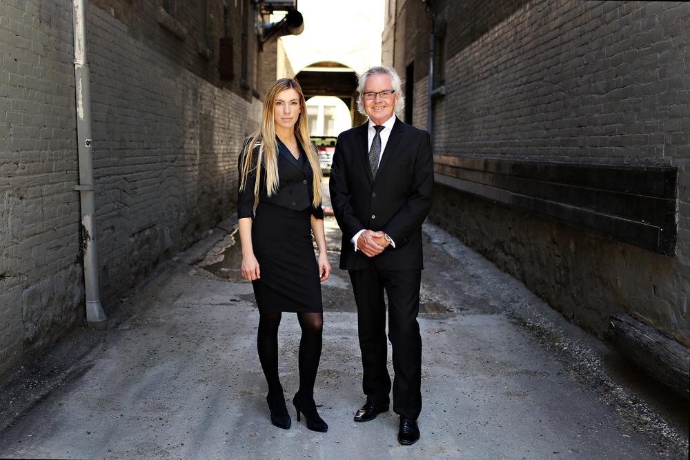Michael Dubienski and Viktoria Fazekas of Dubienski Fazekas Real Estate Group (Winnipeg Realtors®)