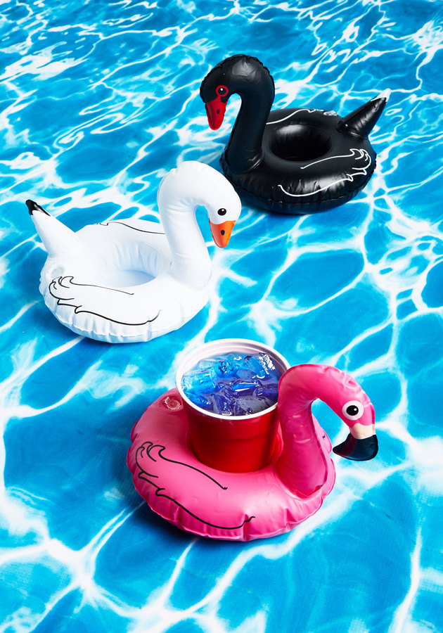 SHAKE YOUR COCKTAIL FEATHERS DRINK FLOAT SET