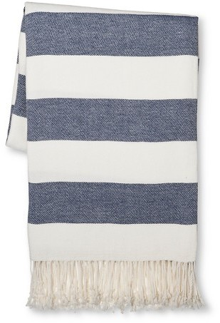 THRESHOLD STRIPE THROW BLANKET