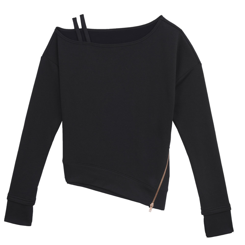 Asymmetrical Sweatshirt in Ebony Heather.JPG