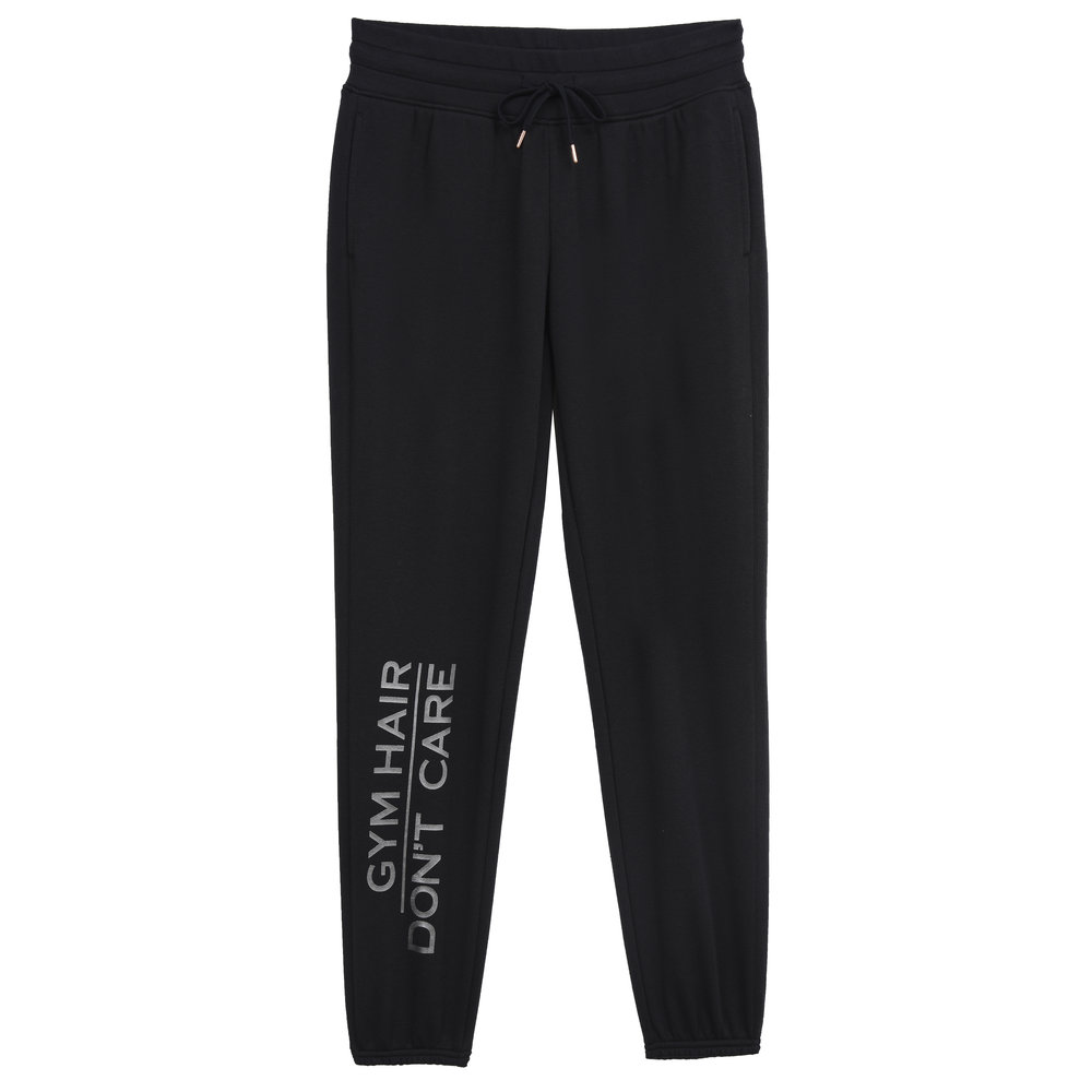 Sweatpant with Graphic - Ebony Gym Hair Don't Care.JPG