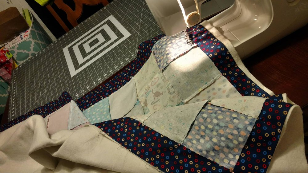 Sewing quilt sandwich