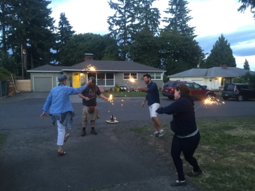 Ain't no party like a sparkler dance party! heeey!