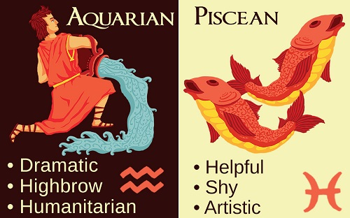 My drama quotient is full.  (image from https://astrologybay.com/compatibility-for-zodiac-signs-aquarius-pisces)