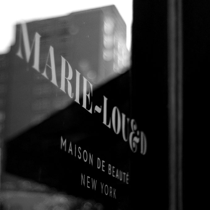Marie Lou & D front window on broadway in NYC