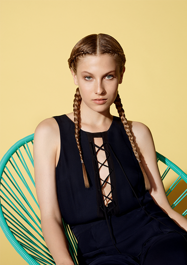 Look by: Delphine Courteille  Studio 34 - Paris, France  @delphinecourteillehair   Braids are really on-trend this season. Especially small, tight braids inspired by 90's hip-hop. This is the perfect, edgy fall look for any trendy woman.