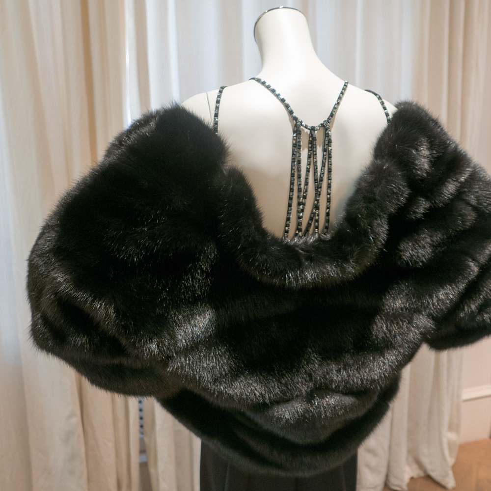 IZETA gown and fur jacket
