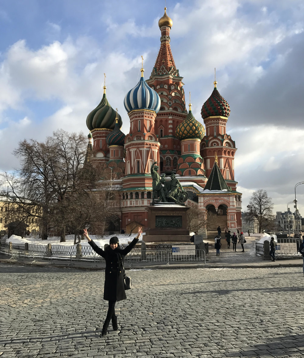 Moscow's famous Saint Basil Cathedral