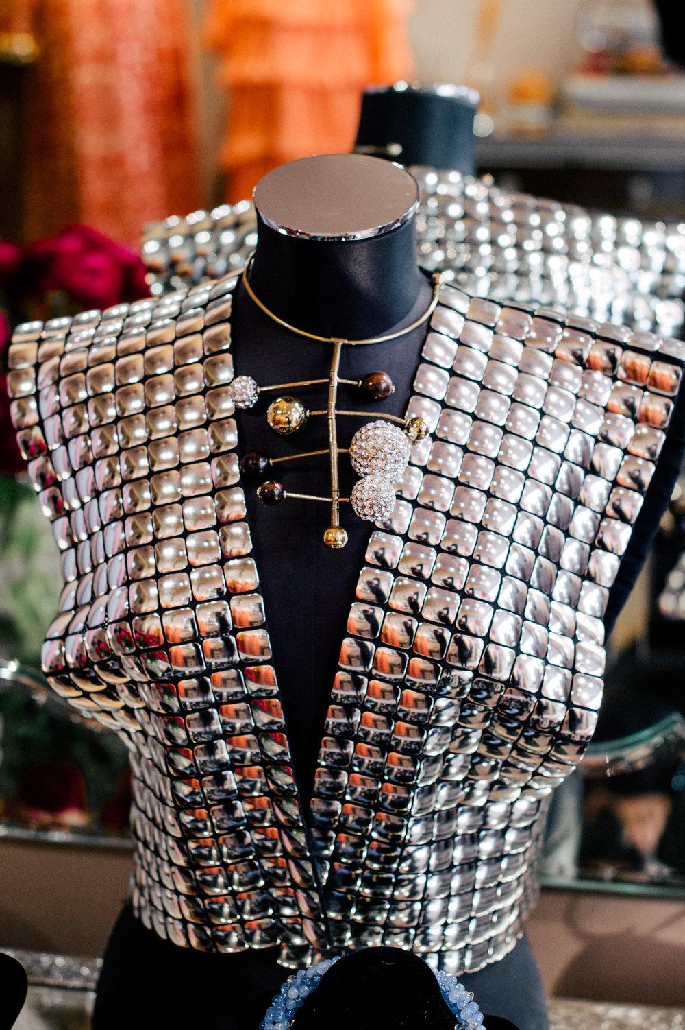 Krizia silver sleeveless jacket, circa 1990