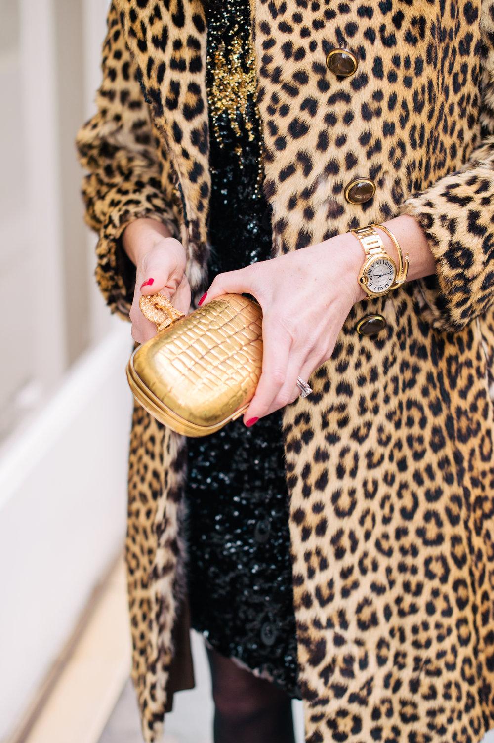 Stunning gold Yves Saint Laurent clutch
