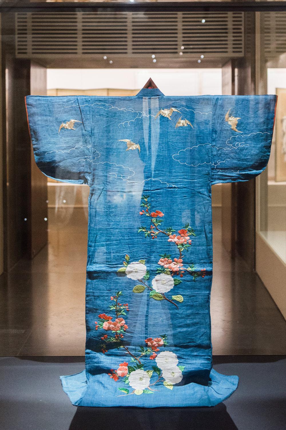 A traditional kimono from the Matsuzakaya fashion house