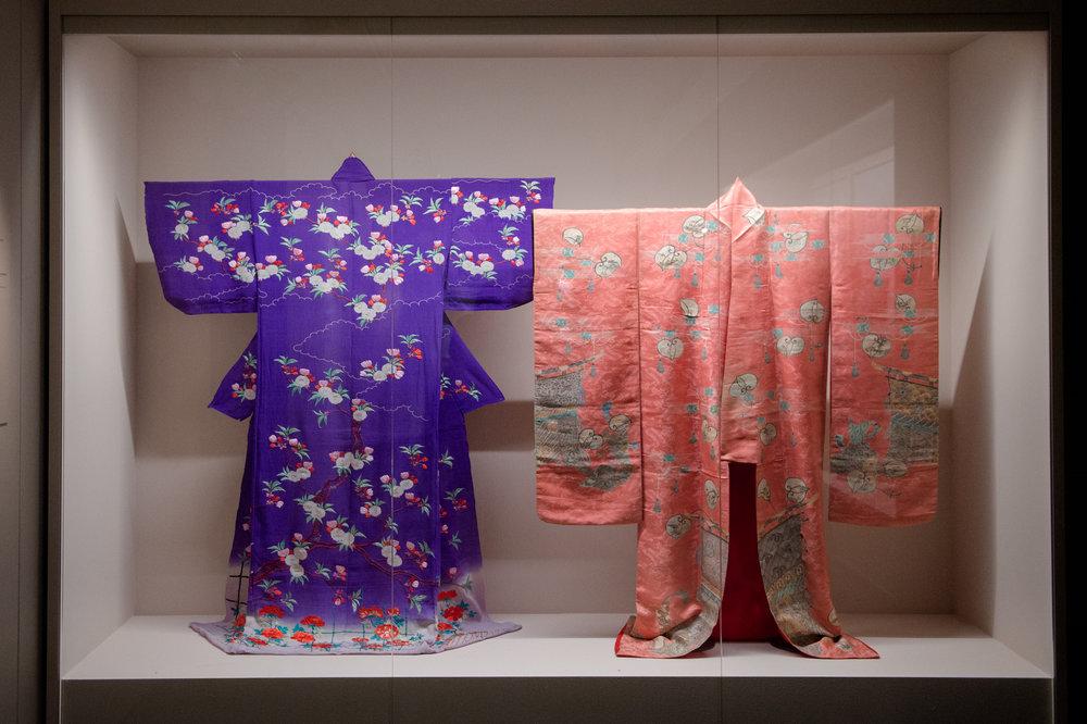 Traditional Japanese kimonos from the Matsuzakaya fashion house
