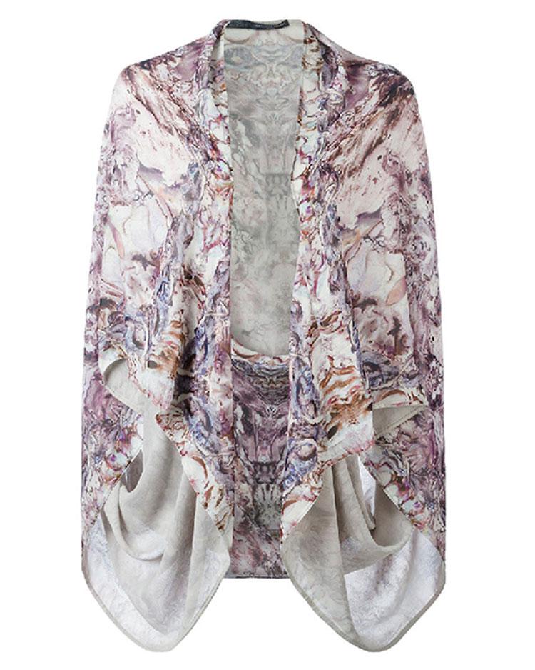 Alexander McQueen  Multicolor Silk Kimono