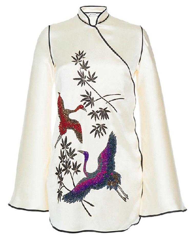 ATTICO  Elena Silk Kimono Dress