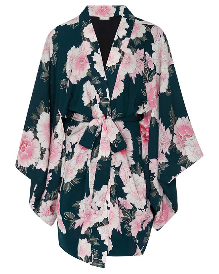 FLEUR DU MAL  Haori Kimono Mini-Dress