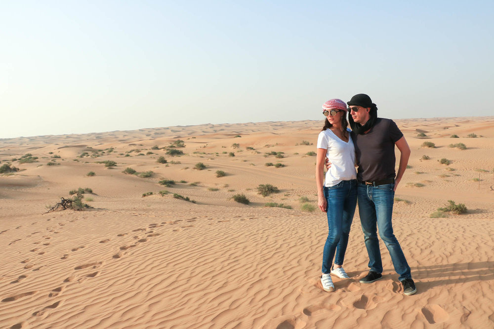 Visiting the Dubai Desert Conservation Reserve with my husband, Kilian Hennessy
