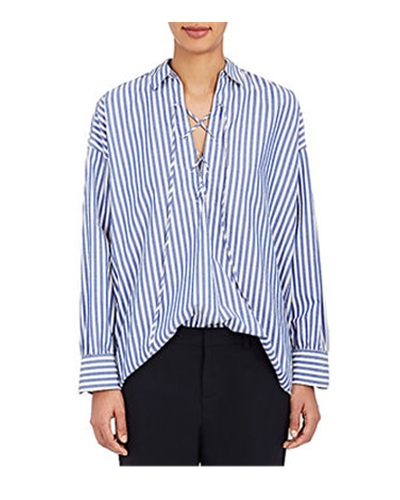 NILI LOTAN  Striped Cotton Blouse