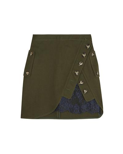 SELF-PORTRAIT  Cotton-twill Mini Skirt