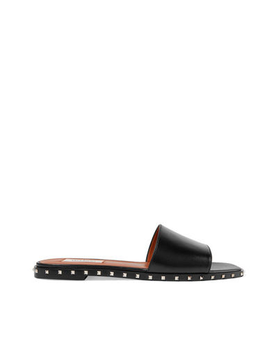 VALENTINO  Rocketed Leather Slides