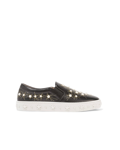 ALTUZARRA  Cosmic Embroidered Slip-On Sneakers