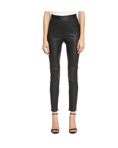 BRANDON MAXWELL  Leather Ciagarette Pants
