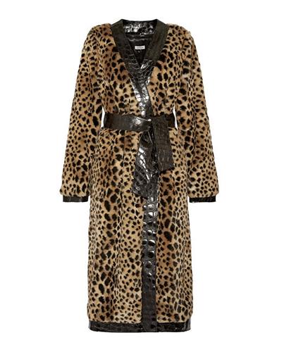 ATTICO  Leopard Faux-Fur Coat