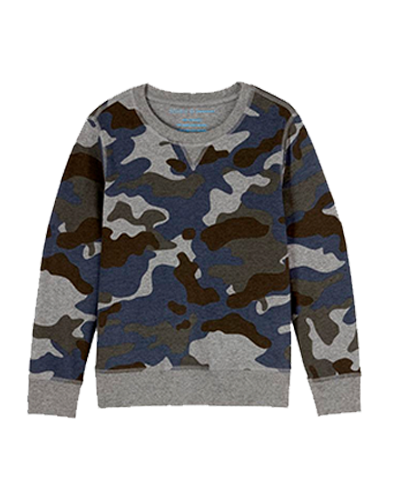ROCKETS OF AWESOME  Camo Crew-Neck Sweatshirt