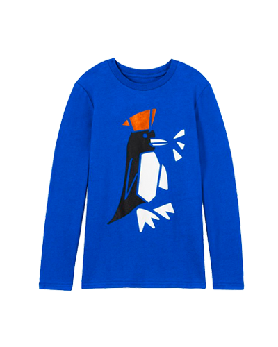 ROCKETS OF AWESOME  Penguin Chill Longsleeve Tee