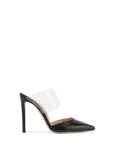 GIANVITO ROSSI  Vertua Leather/PVC Mule