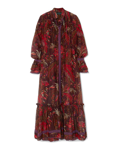 ETRO  Printed Cotton & Silk-blend Maxi Dress