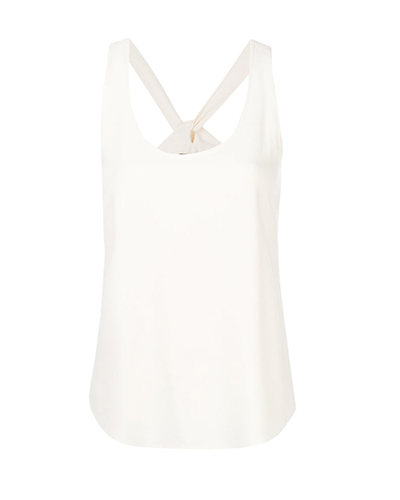 THEORY  Lace-up Back Tank