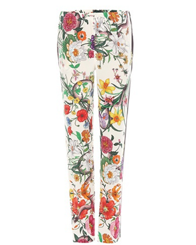 GUCCI  Floral Printed Silk Trousers