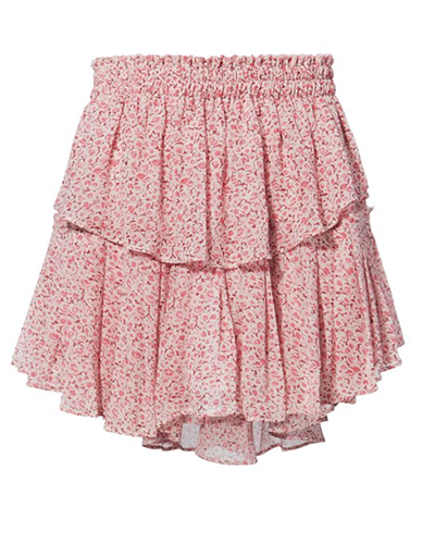 LOVESHACKFANCY  Pink Ruffle Mini-Skirt