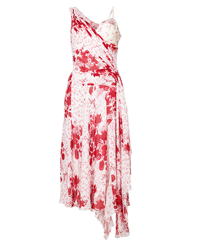 ERMANNO SCERVINO  Red Printed Midi Dress