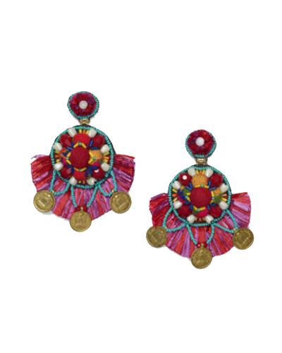 CLUB MONACO x RANJANA KHAN  Multi Color Coin Earring