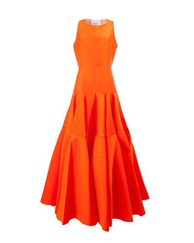 MAISON RABIH KAYROUZ  Pleated Waist Dress