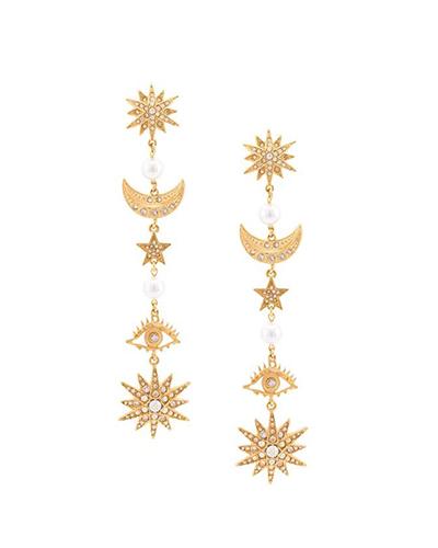 OSCAR DE LA RENTA  Star Drop Earrings