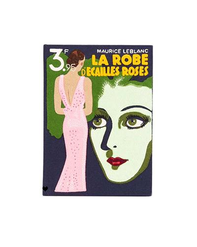 OLIMPIA LE-TAN  La Robe D'Ecailles Roses Book Clutch