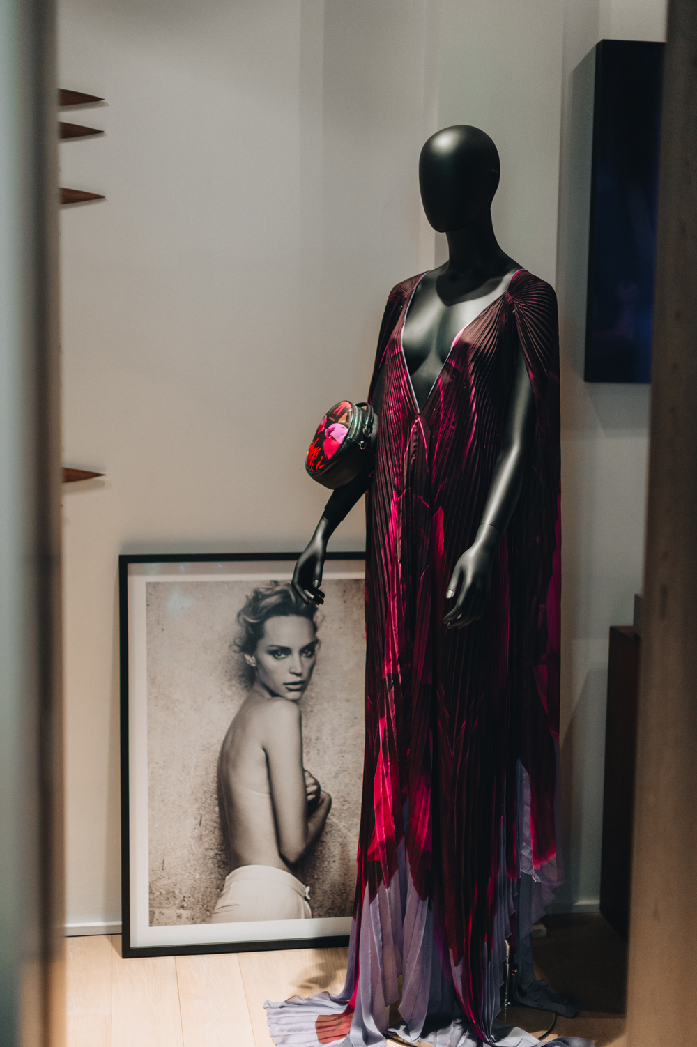 Photo of Inna taken by Peter Lindbergh and an Innangelo kaftan on the mannequin