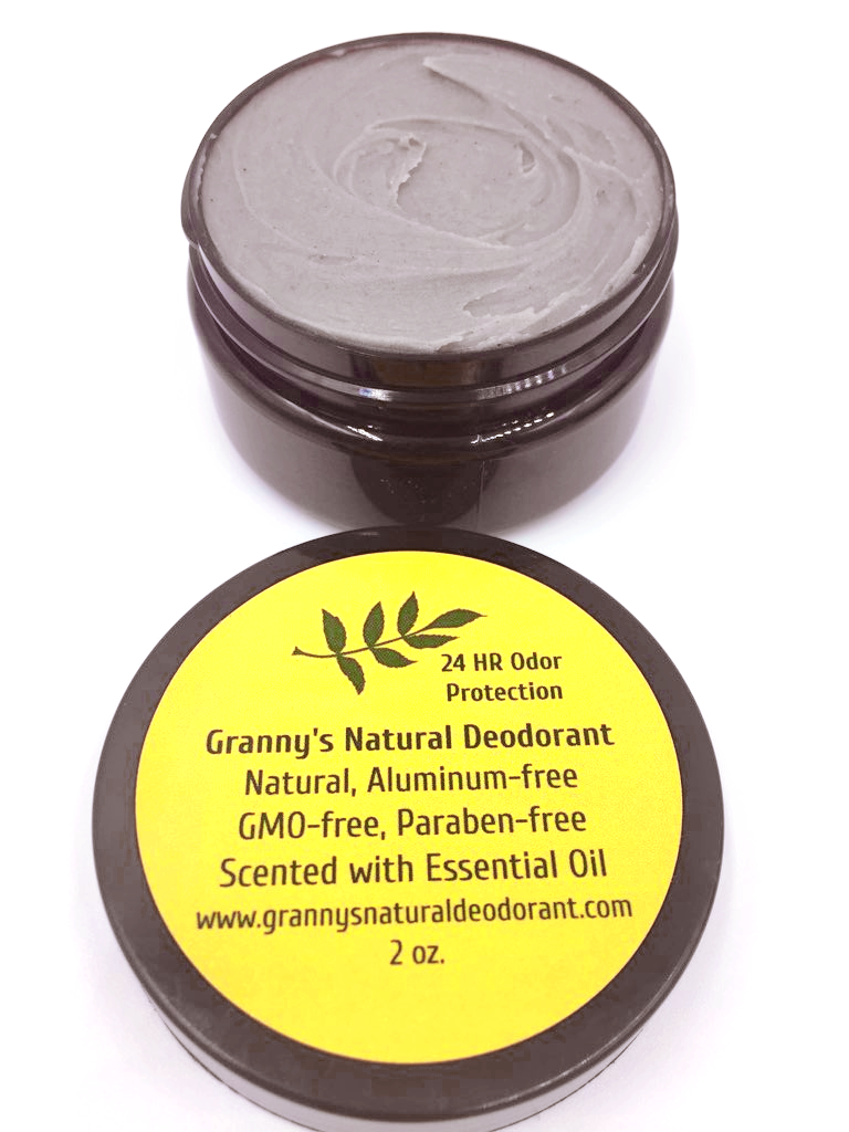Granny's Natural Deodorant With Activated Charcoal - Aluminum, Paraben and GMO Free. Safe for All Skin Types. Gender Neutral. Lightly Scented With Essential Oils.