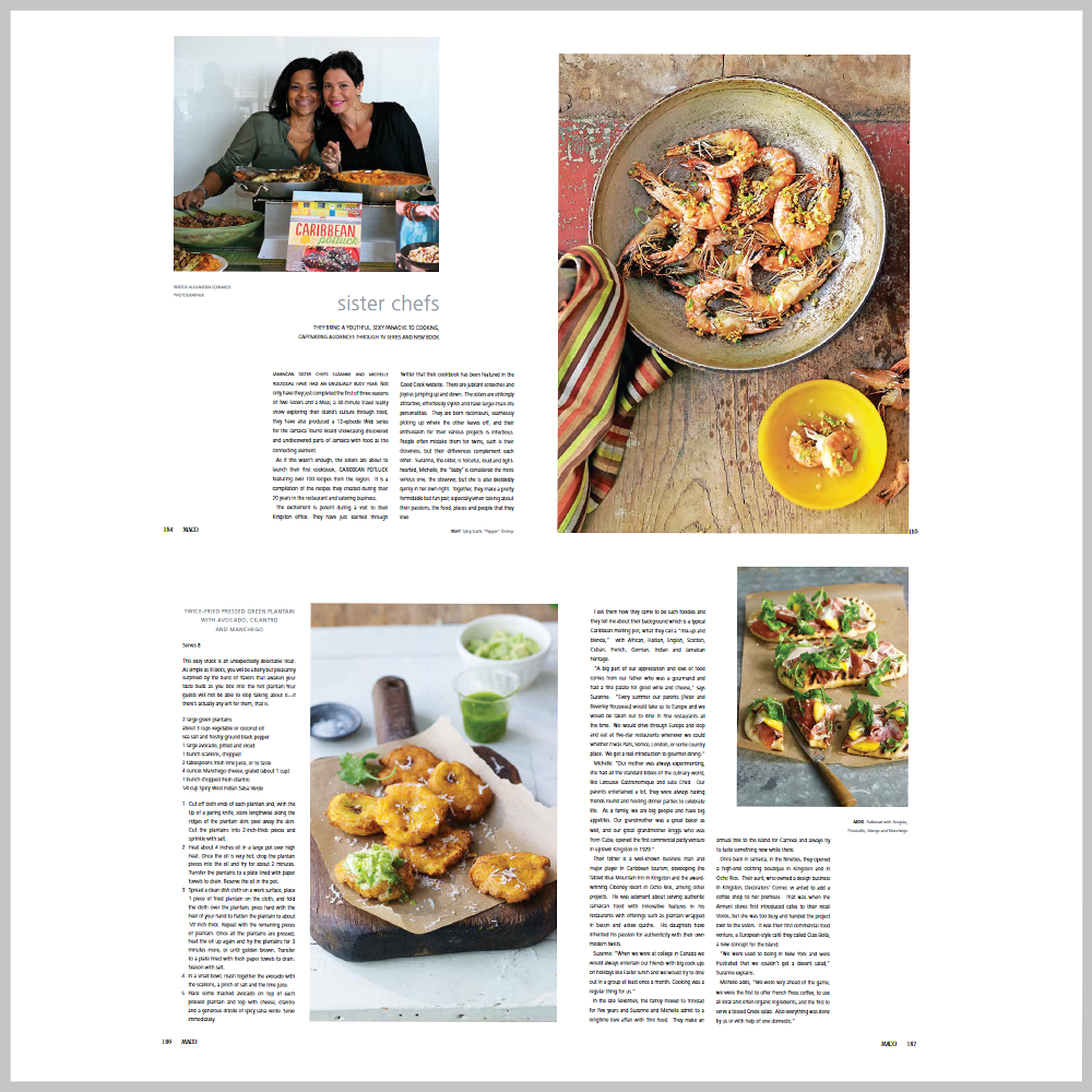 Maco Caribbean Living Magazine  Volume 16, Issue 2 - Sister Chefs VIEW ARTICLE