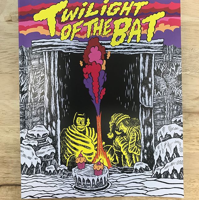 "TWILIGHT OF THE BAT // by Josh Simmons & Pat Keck// Pin Ups by Tara Booth and Anders Nilsen // GET THIS! But first read Simmons' ""Mark of the Bat"" the greatest Batman comic ever // #brainfreezecomics #brainfreezenashville"